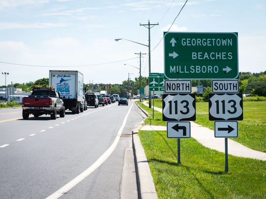 Route 113 in Delaware carries 38,505 vehicles daily.