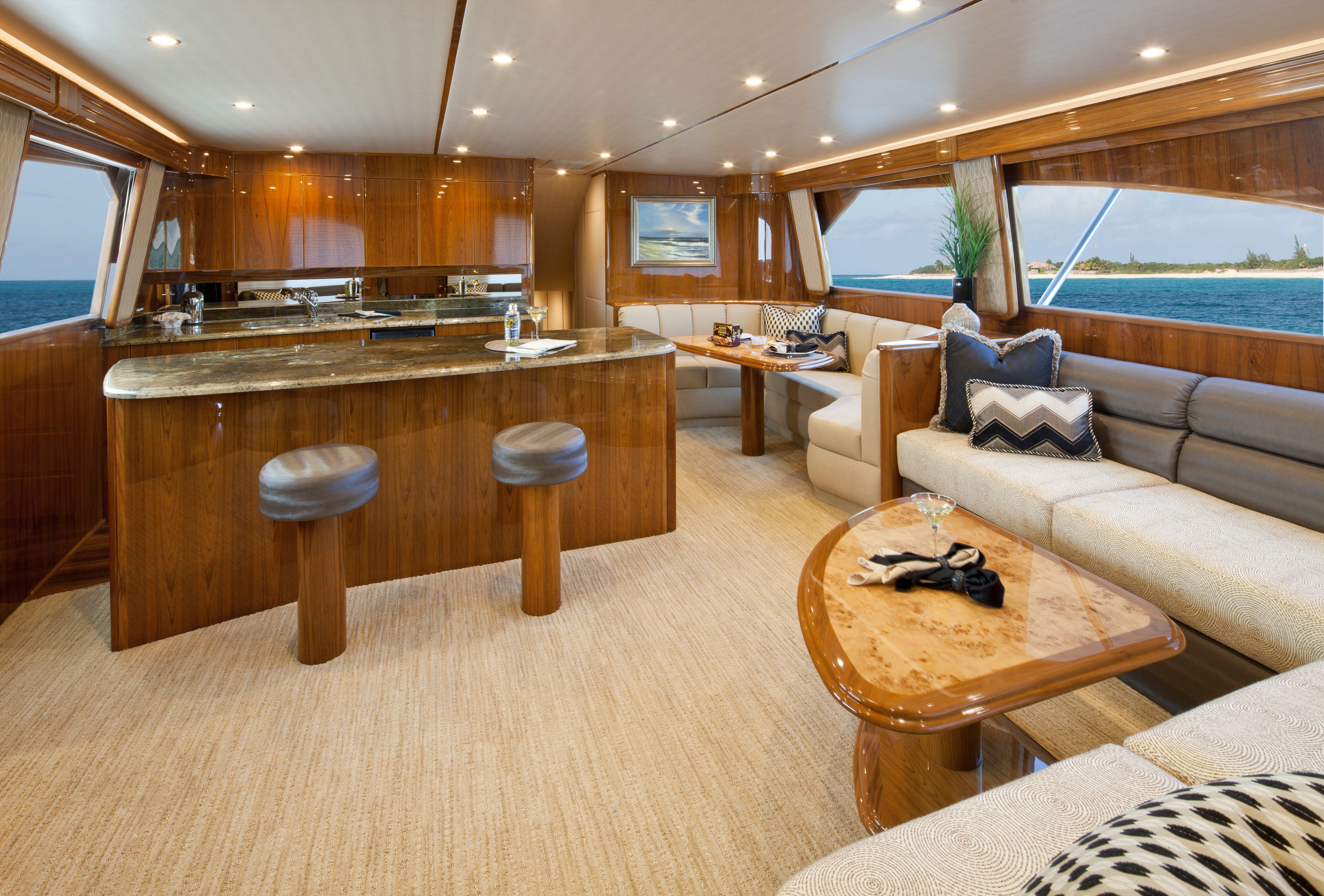 Viking Yachts Range Between $1 And $9 Million. Take A Peek Inside The U201csalon
