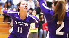 Tarleton State University volleyball player Lauren Kersey (11).