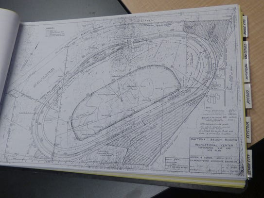 Blueprints for Daytona International Speedway, which