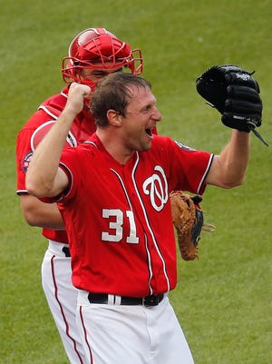 """Max Scherzer: """"I didn't get much sleep, but that's for a good reason, just on a high from the game."""""""