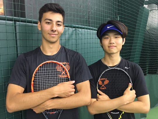 Tenafly's Nic L'Heureux and Kevin Kim.