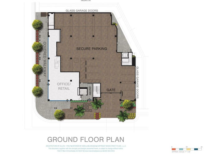 Main street place condo development in scottsdale for 15 dunham place floor plans