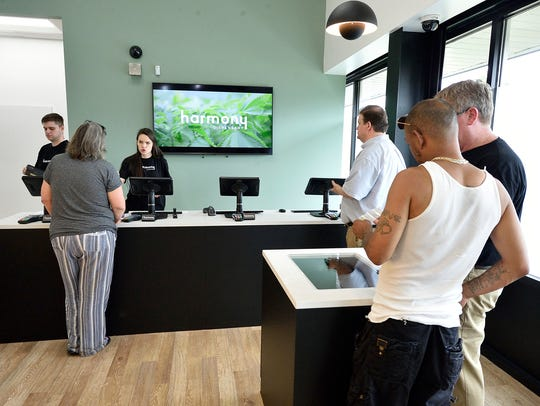 The dispensary area at the Harmony Dispensary in Secaucus,