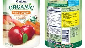 Gerber is recalling two flavors of its Organic 2nd Foods sold at Giant and Martin grocery stores.