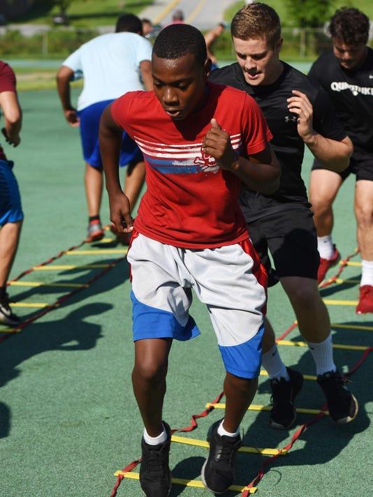 Spackenkill football training