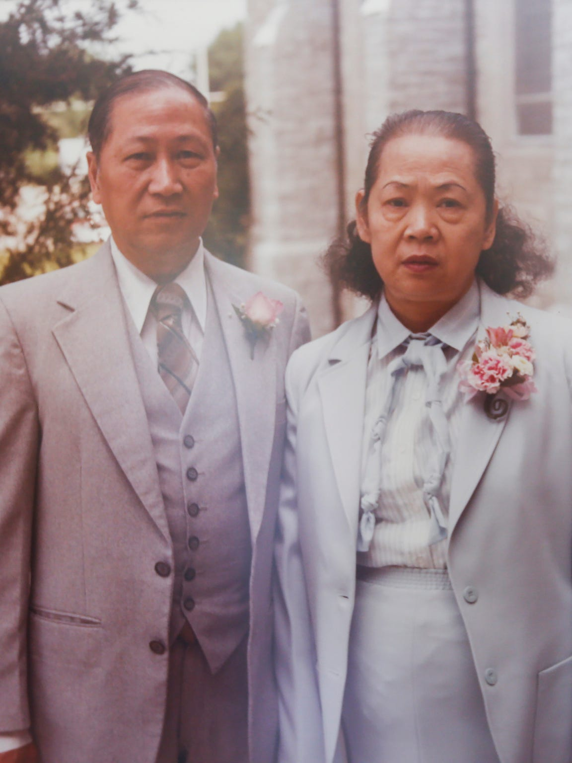David Leong and his wife Shau Ngor, who died in 1997.