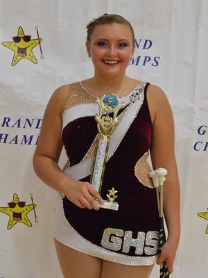Gettysburg High School senior Madalynn Alt won the High School Classic event in the Grand Champs Twirling competition while representing the school in June.