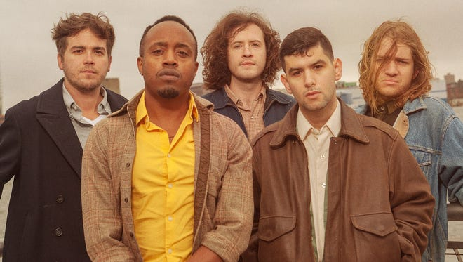 Durand Jones & the Indications (from left, Justin Hubler, Durand Jones, Kyle Houpt, Aaron Frazer and Blake Rhein) will perform April 17 at the Hi-Fi.