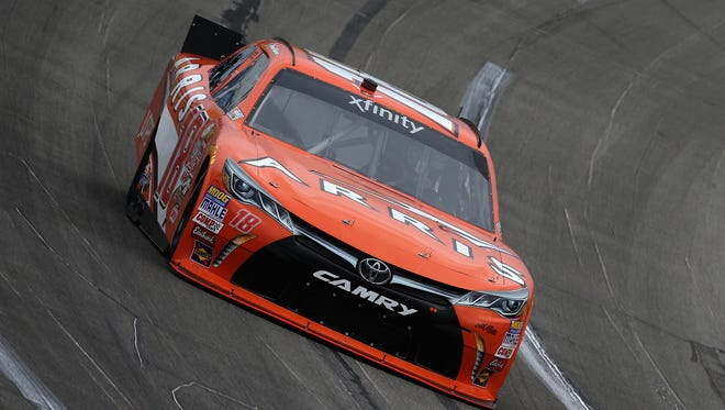 Daniel Suarez during practice for the NASCAR Xfinity Series VisitMyrtleBeach.com 300 at Kentucky Speedway on September 25, 2015 in Sparta, Kentucky.