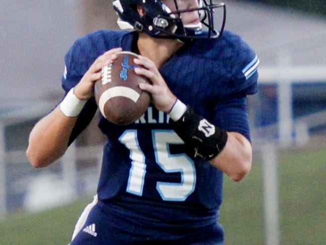 Airline's Brad Fream during their game against Ruston Friday evening at Airline High School.