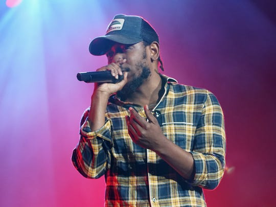 Kendrick Lamar performs at the 2016 Essence Festival
