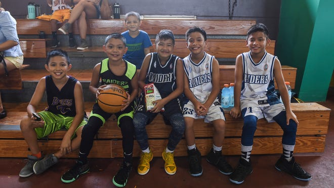 Guam Youth Basketball Association Drug Free League players are shown in this file photo taken at Astumbo Gym on June 30, 2018.