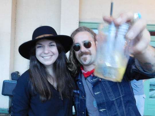 Renee Maskin of Lowlight is pictured with The Battery Electric frontman Ron Santee.