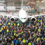 Boeing rolls out first 737 MAX 9
