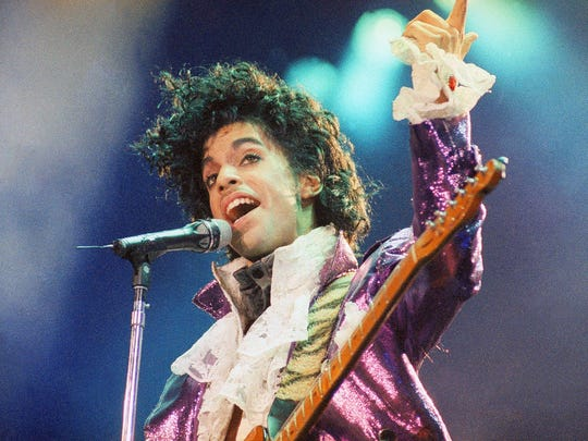 Prince performs in 1985, at the height of his popularity.