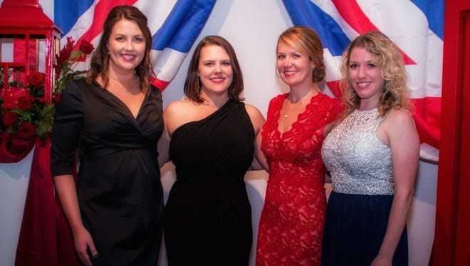 From left, Heather Moorer, Sophia Frome, KC Gartman and Maegan Leonard helped to make Baptist Health Care Foundation's fifth annual Casino Royale gala on April 20, 2018, a success.