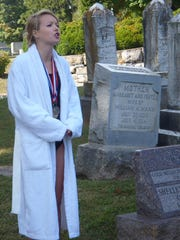 Anna McIntyre portrays Shelley Isabel Mann, who made Staunton's Thornrose Cemetery her final resting place.