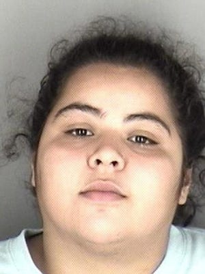 Marlene Rangel-Cazares, 22, was arrested Thursday in connection with crimes that included possessing marijuana with intent to distribute.