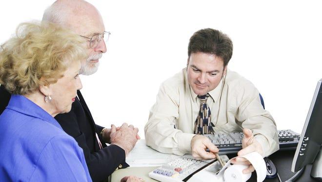 Seniors consult a tax accountant.