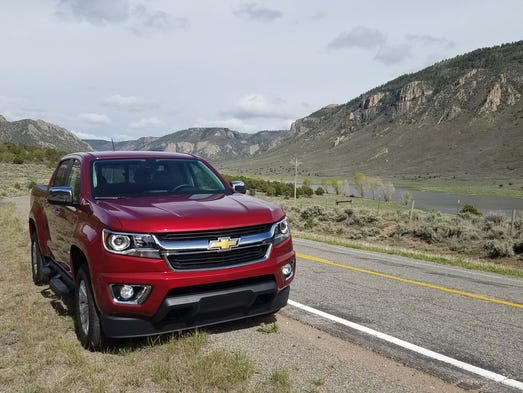 "The standard, ""city slicker"" Chevy Colorado sports"
