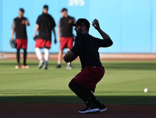 MLB: NLDS- Arizona Diamondbacks Workout
