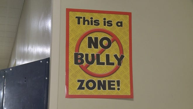 An anti-bullying sign