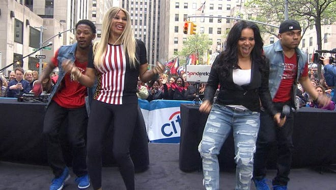 """Salt-N-Pepa perform on """"Today"""" in April. The group is part of the """"I Love the 90s Tour"""" coming to the York Fair on Sept. 14."""