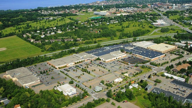 An aerial view of University Mall in South Burlington.