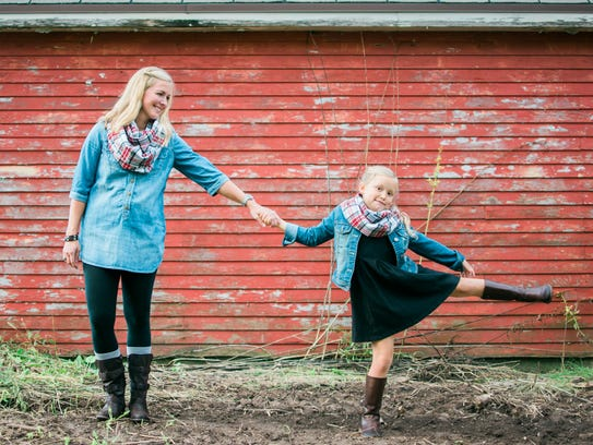 Amy Spaeth's handmade flannel infinity scarves come