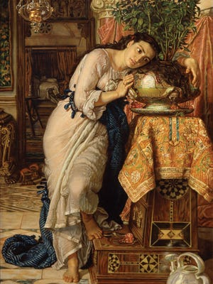 """William Holman Hunt's """"Isabella and the Pot of Basil."""""""