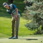 Korey Roberts at the Calhoun County Amateur Golf Tournament at Binder Park Gold Course on Sunday.