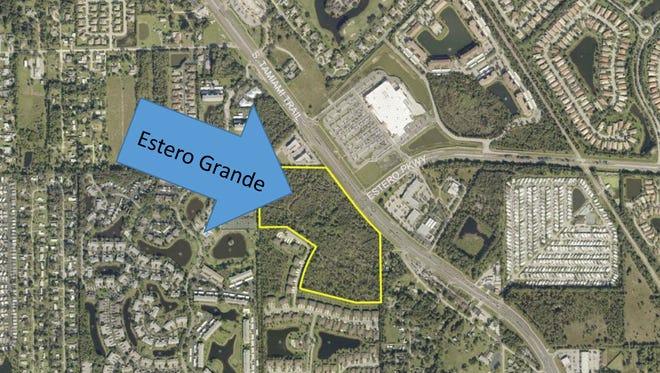 Estero Grande is proposed on nearly 30 acres across U.S. 41 from the Walmart off Estero Parkway in north Estero.