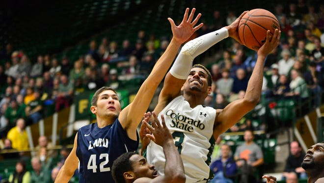 Senior guard Gian Clavell, the Rams' leading scorer at 21.5 points a game, puts up a shot in a Nov. 19 win over Loyola Marymount at Moby Arena. That's one of two early wins CSU has this season over teams in the top 100 of the NCAA's RPI.