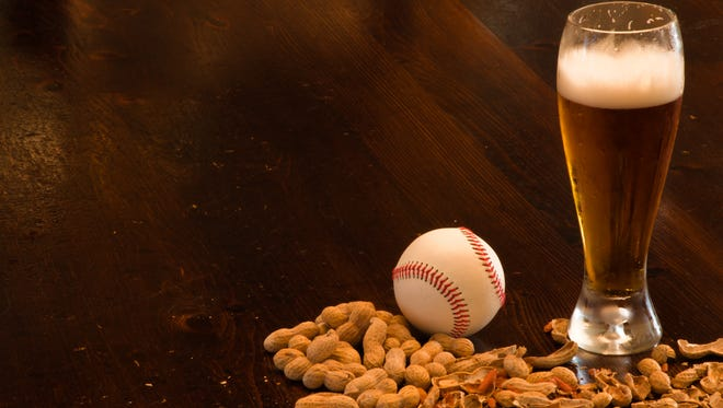 Beer and baseball, perfect together. Now we just need the Phillies on the scoreboard.