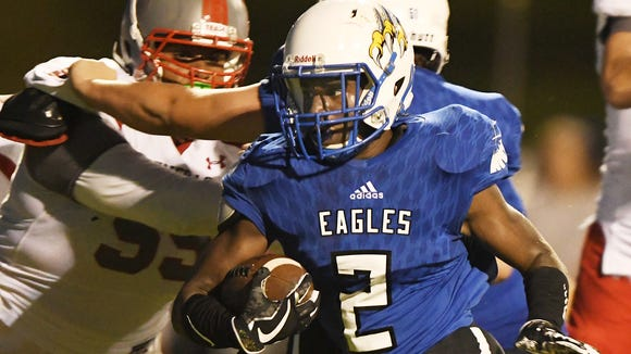 Eastside's Dondre Thompson (2) and the Eagles travel to Southside this week.