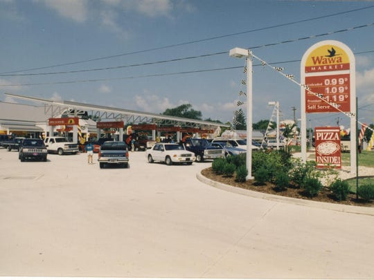 This photo was taken on the Aug. 2, 1996, opening day for the first-ever Wawa gas station, located in Millsboro.