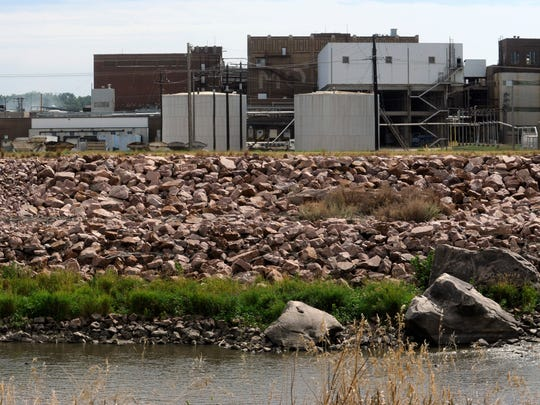 Smithfield Foods along the Big Sioux River near downtown Sioux Falls in 2013.