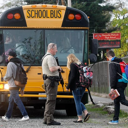 Students are evacuated from Marysville Pilchuck High