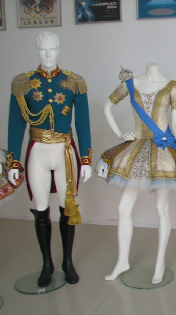 Russian ballet costumes
