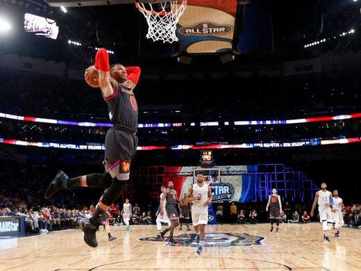 Sunday Russell Westbrook Dunks The Ball In 2017