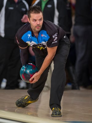Jason Belmonte warms up for competition. The PBA Tournament of Champions crowned Jason Belmonte, of Orange, Australia, the new champion at the tournament held at Woodland Bowl, in Indianapolis, Sunday, Feb. 15, 2015.