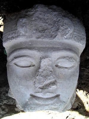A 3,000-year-old granite head believed to show Pharoah Ramses II is seen in 2008.