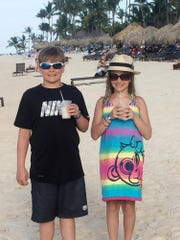 Jack and Jessie Joseph of Franklin enjoyed the Punta Cana family vacation their parents treated them to in March.