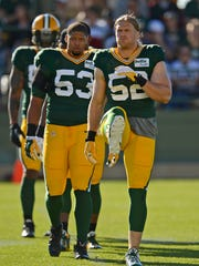 Green Bay Packers linebacker Clay Matthews (52) and