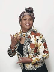 Queen Nur dishes up multicultural stories on Saturday at Cumberland County Library.