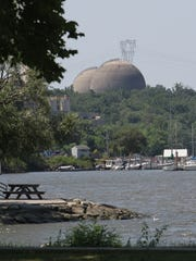 A view of the Indian Point nuclear power plant, photographed from Peekskill.