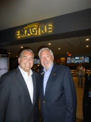 Community House President and CEO Bill Seklar and Emagine Entertainment founder and CEO Paul Glantz. The Community House is one of the four charity recipients of the Palladium and Ironwood Grill opening parties.
