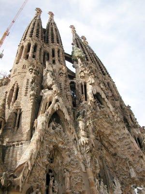 Sagrada Familia, Antoni Gaudi's landmark masterpiece in Barcelona, Spain.