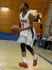 Lane College's Maurice Alexander looks for an open